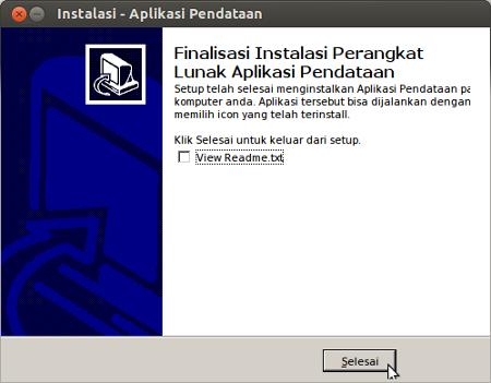 Instalasi - Aplikasi Pendataan_010