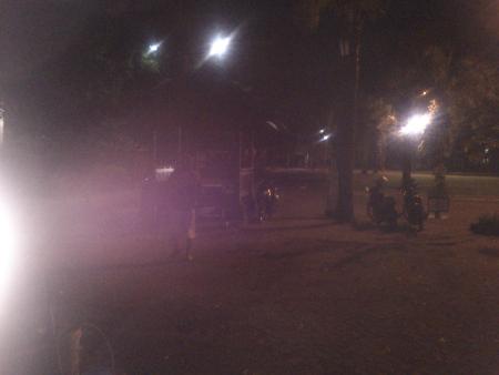 Pos pengamanan Balaikota Surakarta jam 4 pagi
