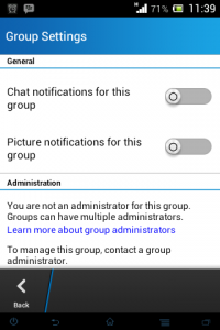 Setting Group BBM di Android