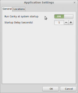 Conky Manager Application Settings
