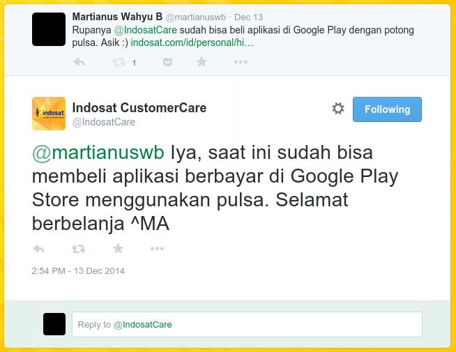 Konfirmasi dari Indosat