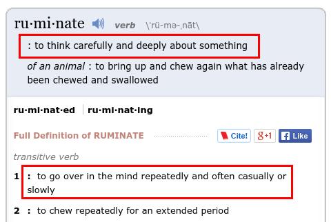 Definisi dari ruminate