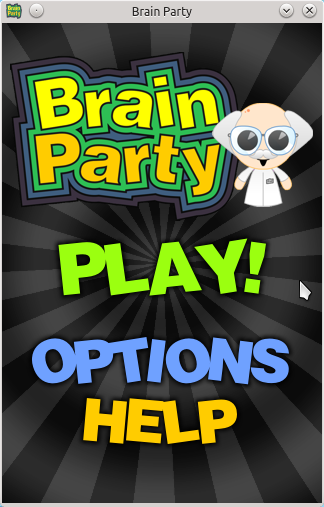 Brain Party Home Screen