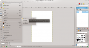 GIMP - Paste as new image