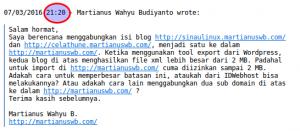 E-mail saya ke IDWebhost